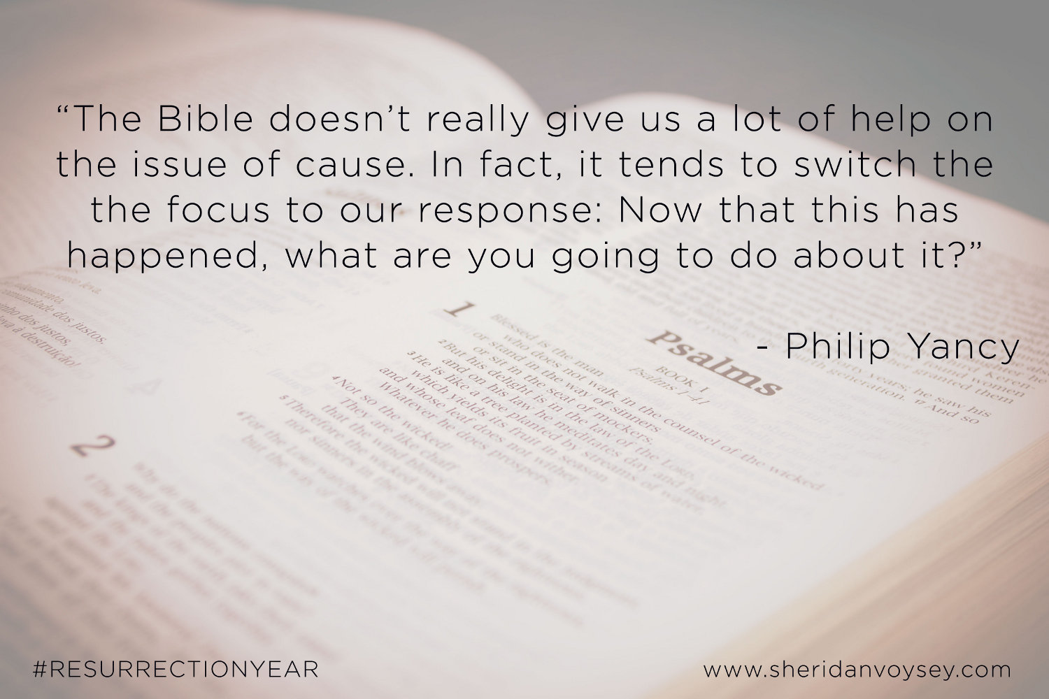 The Bible - Philip Yancey #ResurrectionYear