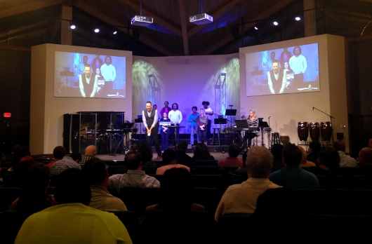 Speaking at Celebration Church, Raliegh