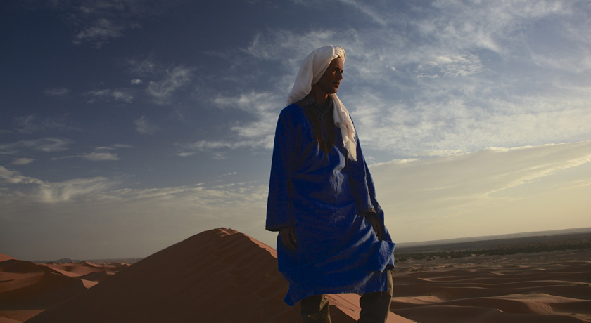 Bedouin man in desert