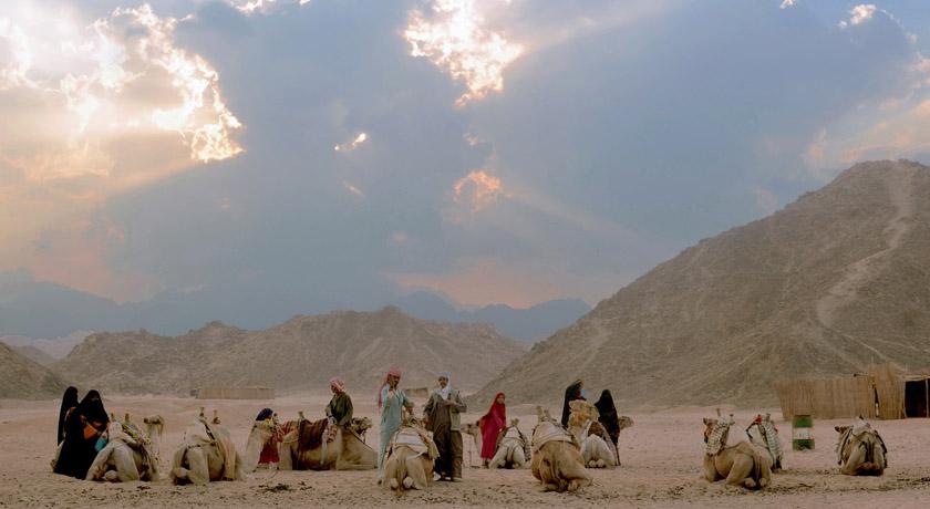 Bedouin men and women