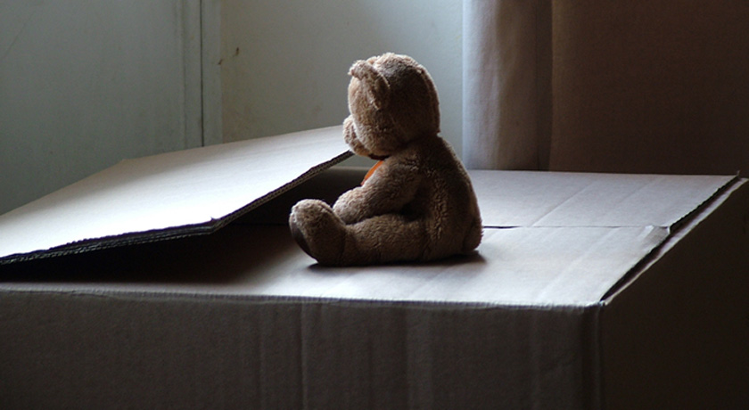 Teddy bear, alone