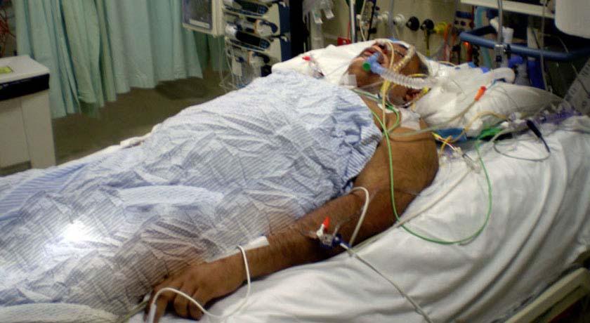 Dr Sean George in intensive care