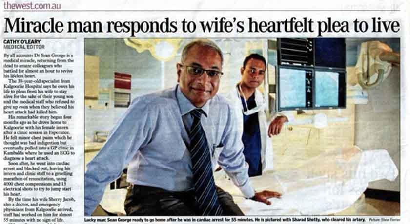 Dr Sean George newspaper story