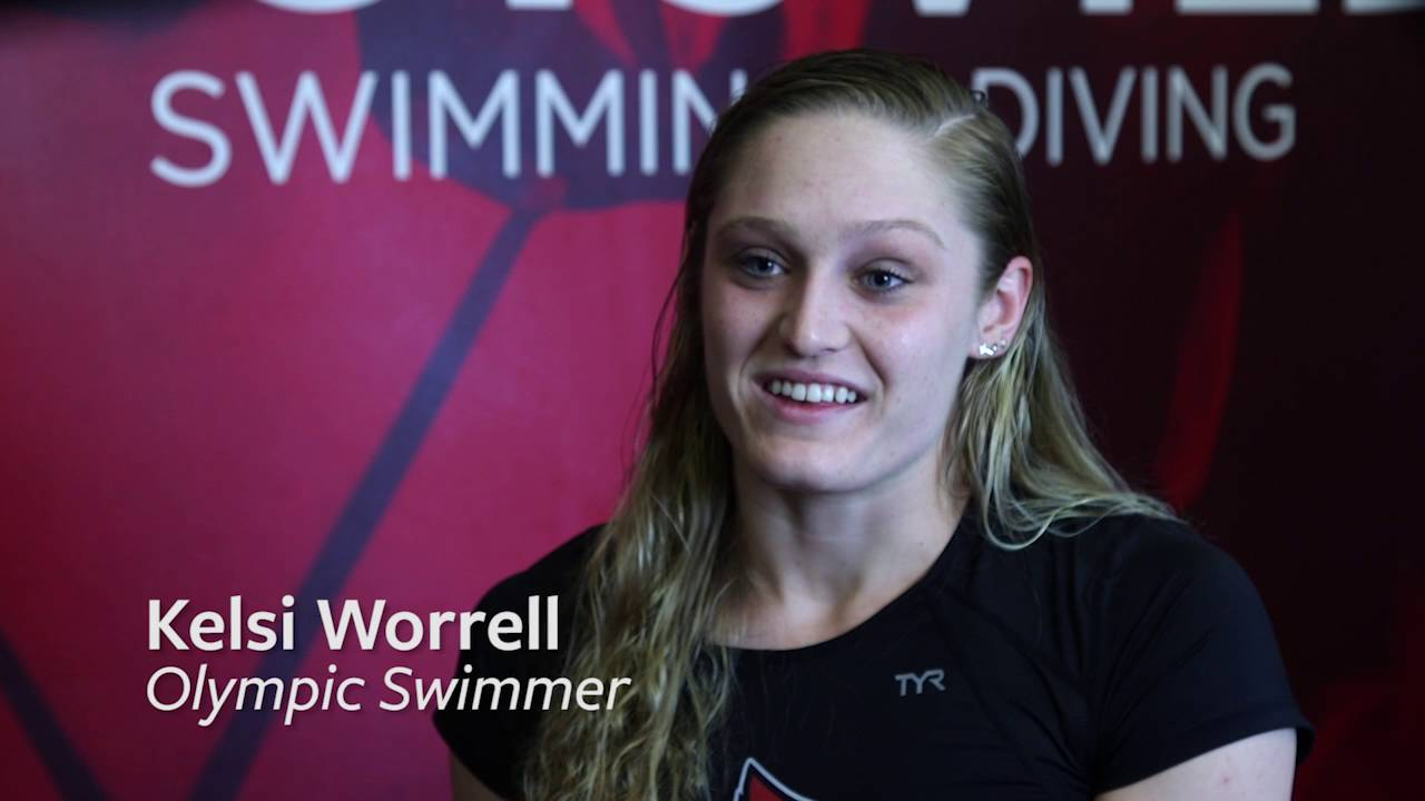 USA Olympic swimmer, Kelsi Worrell