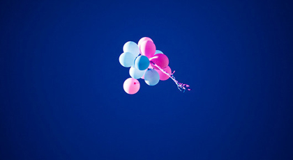 Balloons floating in the sky