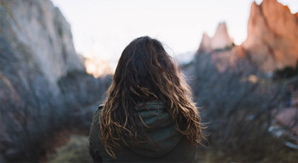 Woman looking to horizon - Photo-by-Brooke-Cagle