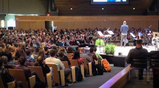 Sheridan Voysey speaking at Cornerstone Uni, 2016