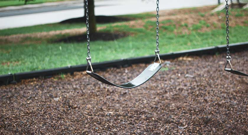 an empty swing